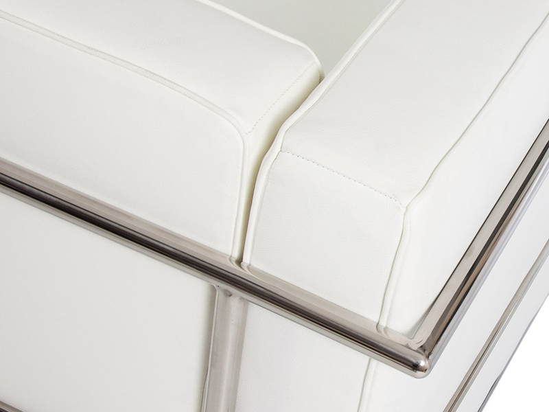 Image du mobilier design LC2 Le Corbusier 3 places Large - Blanc
