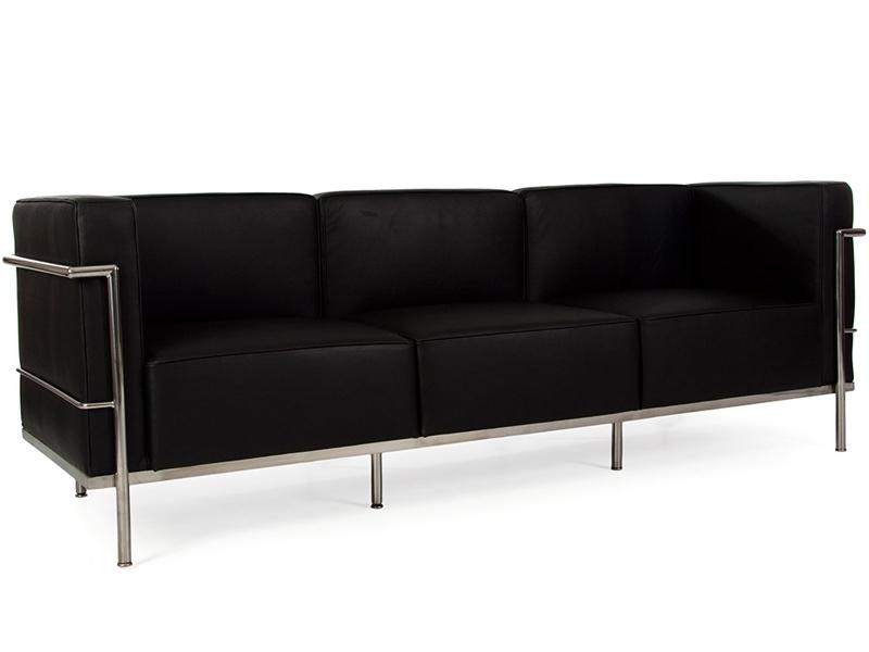 LC2 Le Corbusier 3 places Large Noir