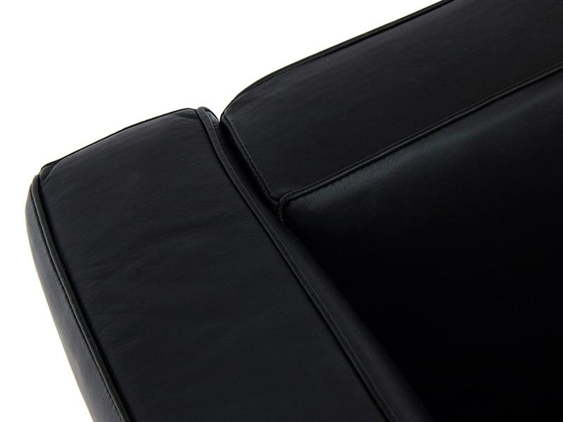 Image du mobilier design LC2 Le Corbusier 3 places Large - Noir
