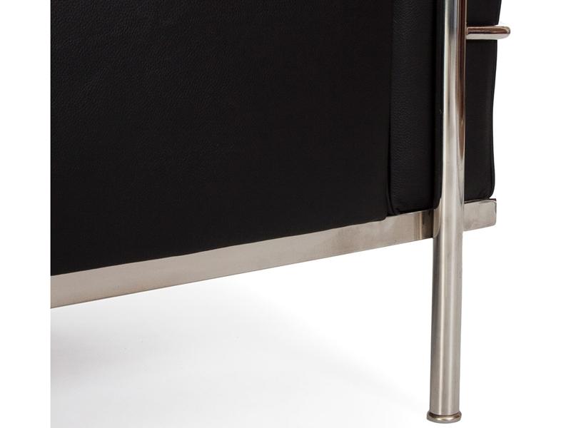 Image du mobilier design LC2 Le Corbusier 3 posti Large - Nero