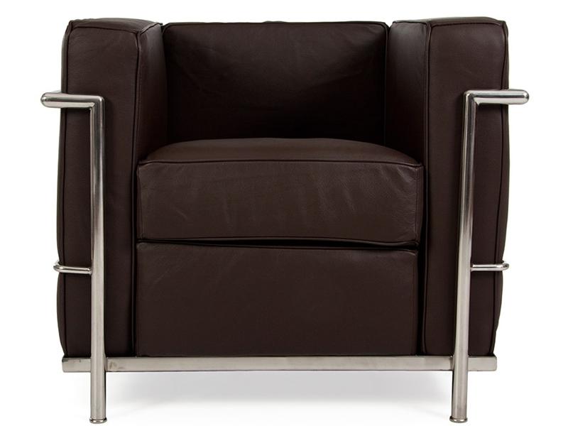 Image du mobilier design LC2 Le Corbusier - Marrone