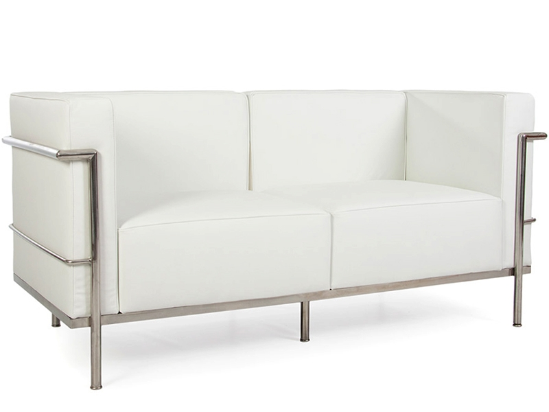 Image du mobilier design LC3 Le Corbusier 2 places Large-Blanc