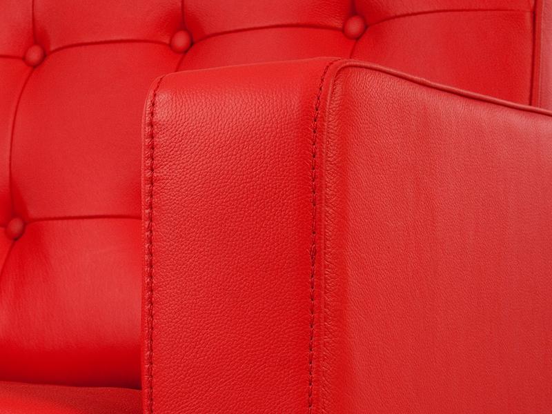 Image du mobilier design Poltrona Lounge Knoll-Rosso