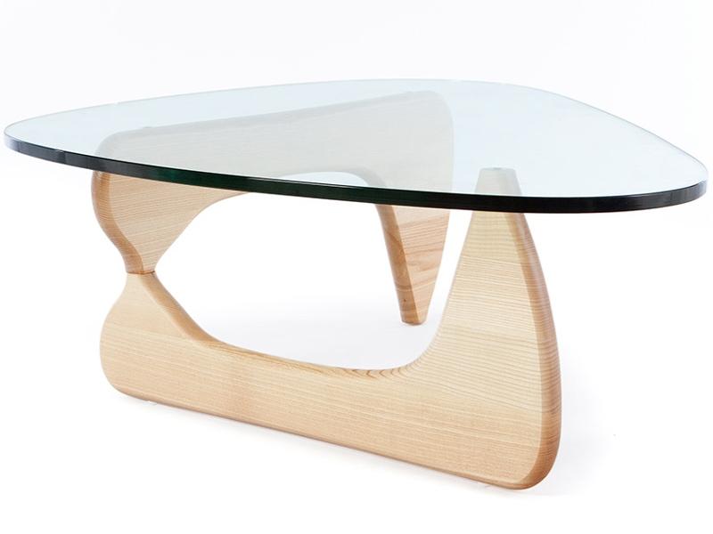 Table basse noguchi bois clair for Table basse bois clair