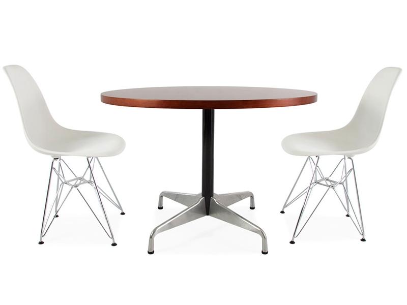 Table eames contract et 2 chaises for Mobilier design eames