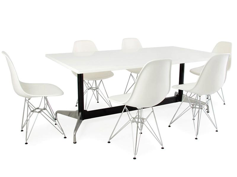 Table eames contract et 6 chaises for Mobilier design eames