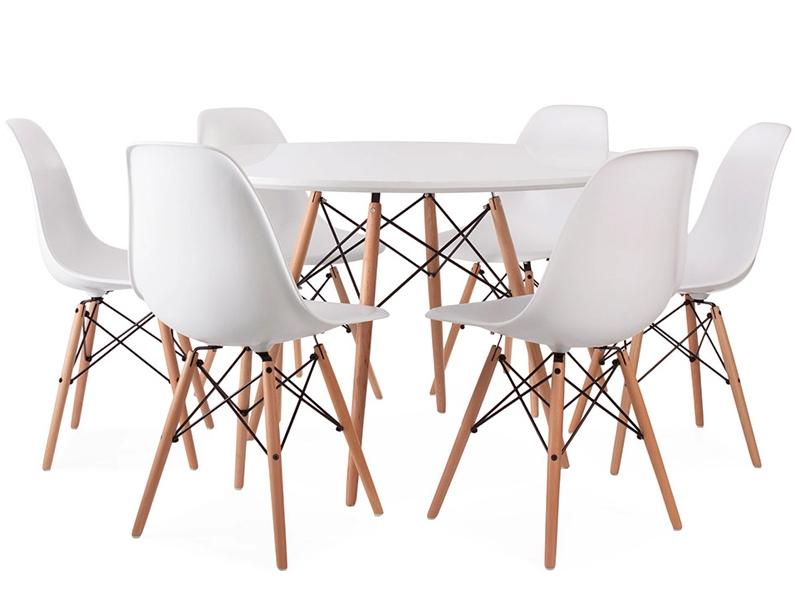 Table eames wdw et 6 chaises for Mobilier design eames