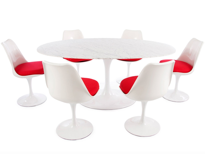 Table ovale saarinen et 6 chaises - Saarinen table ovale ...