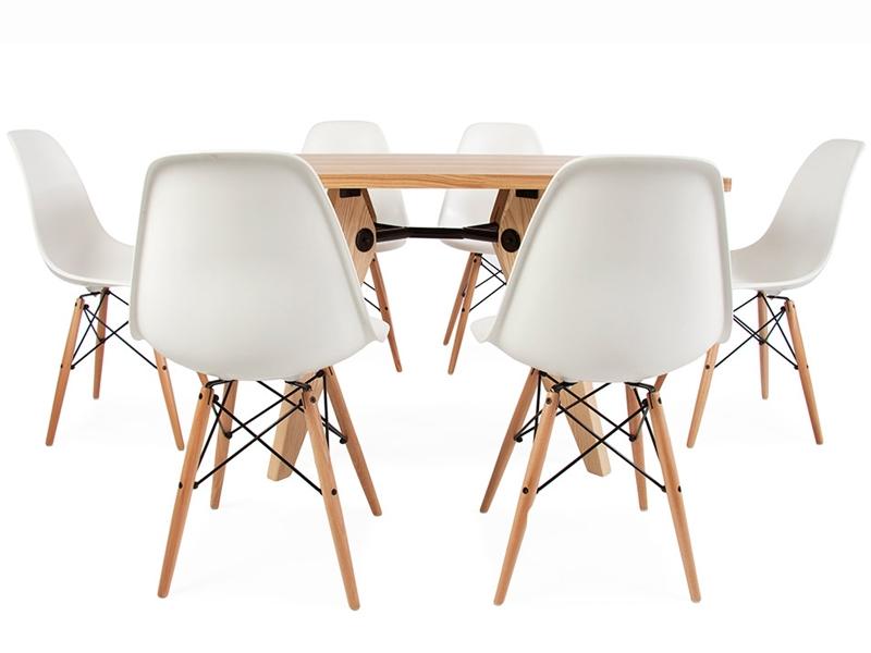 table prouv et 6 chaises. Black Bedroom Furniture Sets. Home Design Ideas
