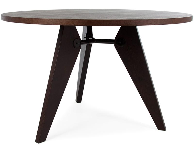 Table prouv ronde et 6 chaises for Table ronde et chaises