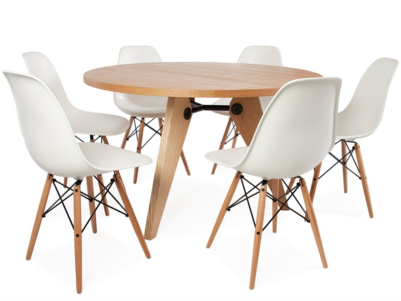 Table prouv ronde et 6 chaises for Table ronde avec chaise