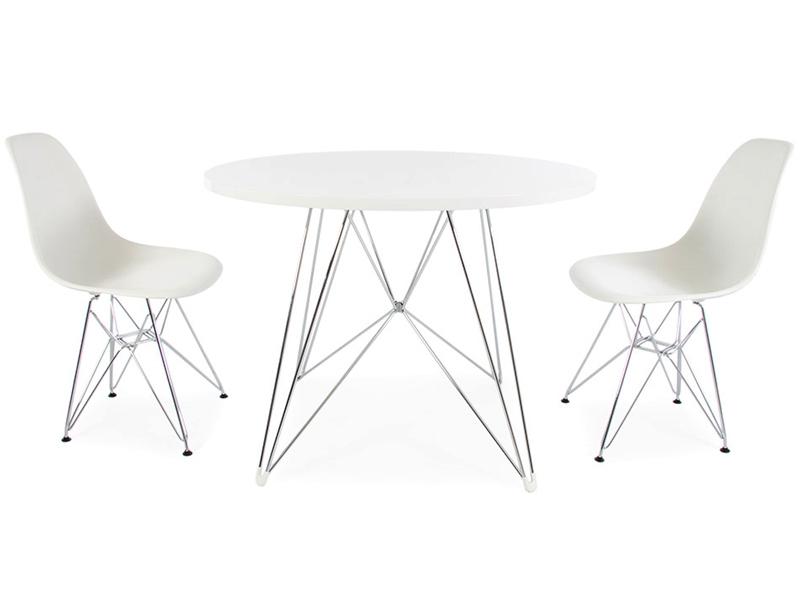 table ronde eiffel et 2 chaises. Black Bedroom Furniture Sets. Home Design Ideas