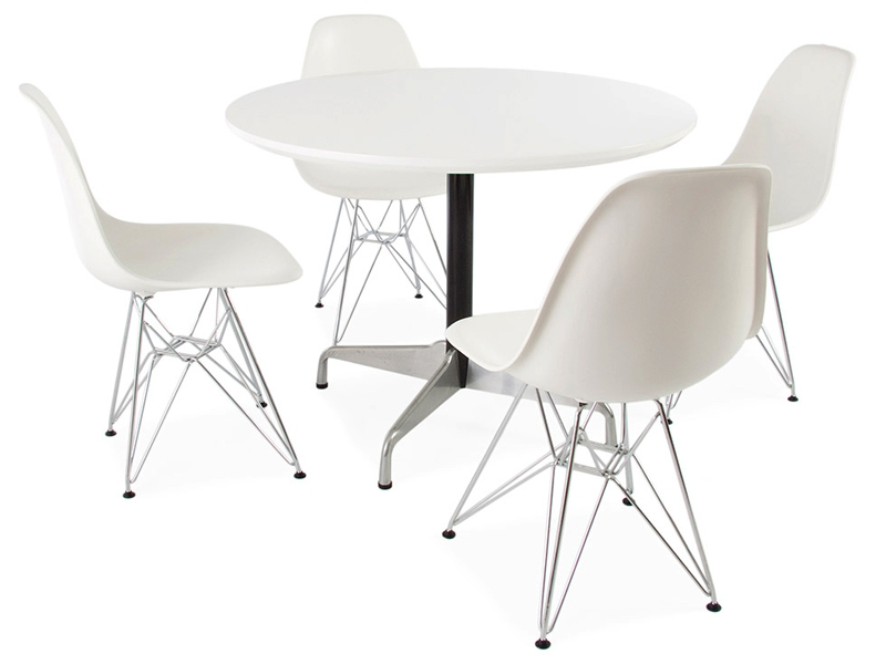 Tavola eames contract e 4 sedie for Tavola e sedie