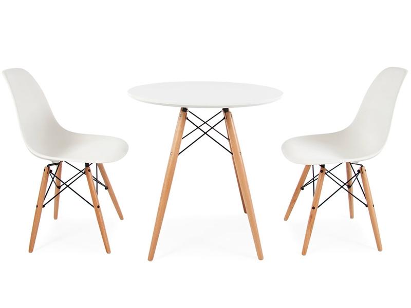 Image du mobilier design Tavolino Eames con 2 sedie