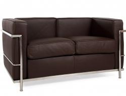 Image du mobilier design LC2 Le Corbusier 2 Posti - Marrone