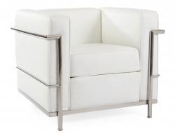 Image du mobilier design LC2 Poltrona Le Corbusier - Bianco