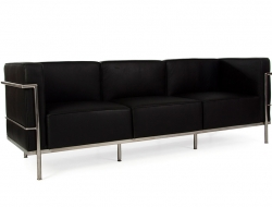Image du mobilier design LC3 Le Corbusier 3 places Large - Noir