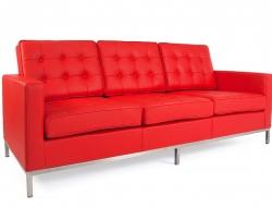 Image du mobilier design Lounge Knoll 3 Places - Rouge