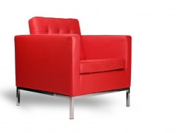 Image du mobilier design Poltrona Lounge Knoll-Rosso