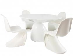 Image du mobilier design Table à manger Parabol et 4 chaises