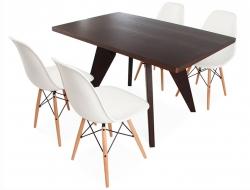 Image du mobilier design Table à Manger Prouvé et 4 Chaises
