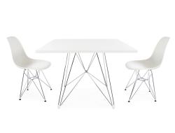 Image du mobilier design Table carrée Eiffel et 2 chaises
