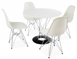 Image du mobilier design Table Cyclone Noguchi et 4 chaises