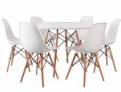 Image du mobilier design Table Eames WDW et 6 chaises