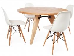 Image Du Mobilier Design Table Prouv Ronde Et 4 Chaises