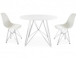 Image du mobilier design Table ronde Eiffel et 2 chaises