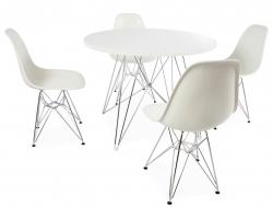 Image du mobilier design Table ronde Eiffel et 4 chaises