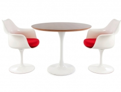 Image du mobilier design Table Tulip Saarinen et 2 chaises