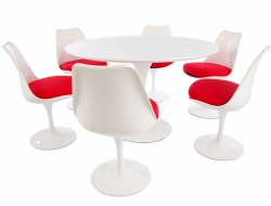 Image du mobilier design Table Tulip Saarinen et 6 chaises