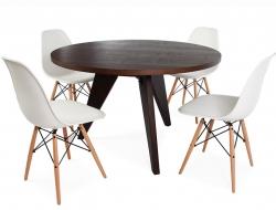Image du mobilier design Tavola Prouvé rotonda con 4 Sedie