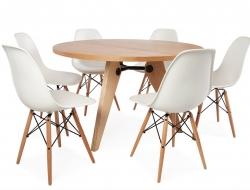 Image du mobilier design Tavola rotonda Prouvé con 6 sedie
