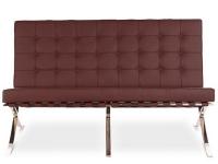 Image du mobilier design Divano Barcelona 2 posti - Marrone