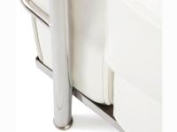 Image du mobilier design LC2 divano ad angolo Le Corbusier 3 posti - Bianco