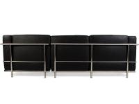 Image du mobilier design LC2 divano ad angolo Le Corbusier - Nero