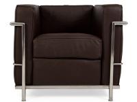 Image du mobilier design LC2 Fauteuil Le Corbusier - Marron