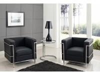 Image du mobilier design LC2 fauteuil Le Corbusier - Noir