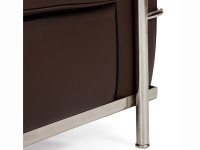 Image du mobilier design LC2 Le Corbusier 2 Places - Marron