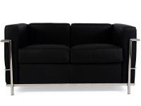 Image du mobilier design LC2 Le Corbusier 2 Places - Noir