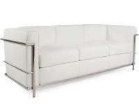 Image du mobilier design LC2 Le Corbusier 3 places - Blanc