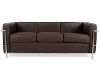 Image du mobilier design LC2 Le Corbusier 3 places - Marron