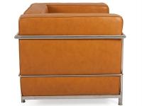 Image du mobilier design LC2 poltrona Le Corbusier - Caramello