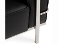 Image du mobilier design LC3 Fauteuil Large Le Corbusier - Noir