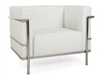 Image du mobilier design LC3 Poltrona Largo Le Corbusier-Bianco