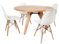 Image du mobilier design Table Prouvé ronde et 4 chaises