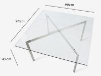 Image du mobilier design Tavolino da caffè Barcelona - 90 x 90 cm