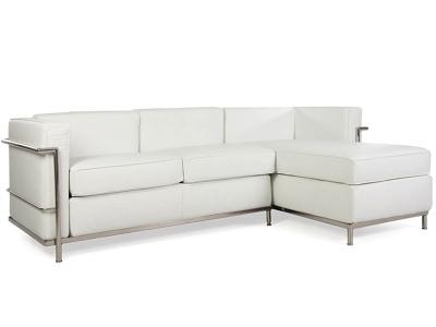 Image du mobilier design LC2 canapé d'angle Le Corbusier - Blanc